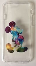 Mickey Mouse Rainbow Clear Silicone Gel Case For iPhone 7