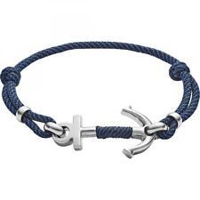 Bracciale Uomo FOSSIL VINTAGE CASUAL JF02932040 Tessuto Cordura Blu Ancora
