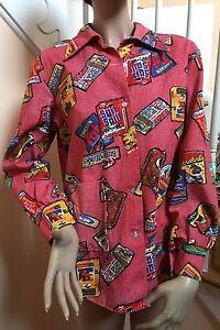 Vintage 1970s Wacky Packs Shirt Fabric Size L/XL Unisex