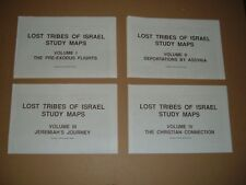 Lost Tribes Of Israel Study, 4 Volume Set Maps And Text