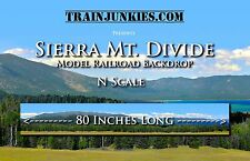"TrainJunkies N Scale ""Sierra Mountain Divide"" Model Railroad Backdrop 12x80"""