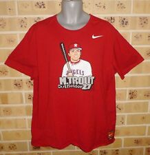 XXL LOS ANGELES ANGELS Baseball MLB Mike Trout #27 Cotton Tee T Shirt Pre Owned