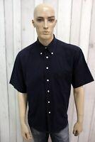 GIORGIO ARMANI Taglia XL Camicia Uomo Cotone Shirt Chemise Casual Manica Corta