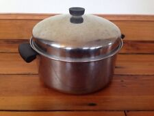 Vtg 50s 6 Qt Revere Ware Stainless Steel Large Domed Lid Stock Pot Copper Clad