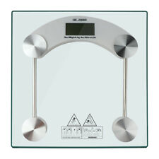 400 LB SILVER GLASS BATHROOM SCALES ELECTRONIC DIGITAL WEIGHING BODY SCALE