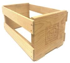 Napa Valley Box Company Wooden 20 CD DVD Storage Holder Rack Shelf Crate Brown