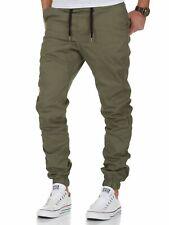 Herren Stretch Jogger Basic Chino Jeans Hose Cargo 7002