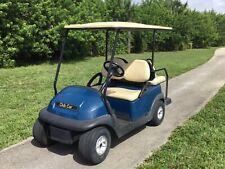 2006 blue Club Car Precedent 4 seat passenger 48v 48 volt Golf Cart long canopy