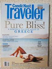 Conde Nast Traveler Magazine February 2011 Pure Bliss! Perfect Isles In Greece