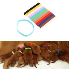 12Pcs Pets Puppy Collars Different Colors Soft Identification Mark For Cats Dogs
