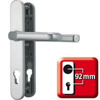 ABUS Tür-Schutzbeschlag, Drücker beidseitig (Klinke), SRG92 F1, Aluminium