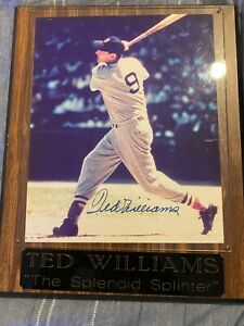 Ted Williams Signed Plaque with Authentication