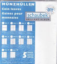 2-Euro-Münzhüllen für 100 Münzen (Format 26-34 mm) für Schaubek Alben