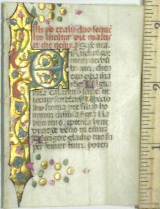 lluminated Lf.of a small book of hours manuscript,Goid Border&initials,ca.1470