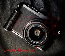 Handmade ebony Curly Grass Steel Hand Grip for Leica Q2 Digital Camera Black