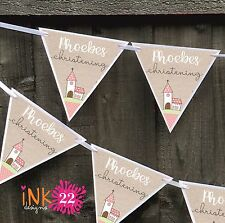 Personalised Christening Baptism Party Decoration Bunting Banner Sign New Baby