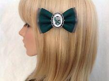 Harry Potter slytherin hair bow clip rockabilly pin up girl geek hogwarts