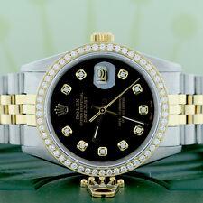 Rolex Datejust 2-Tone Gold/Steel 36MM Jubilee Watch 16013 w/Diamond Dial & Bezel