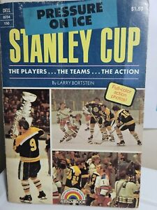 1973 1st edition PRESSURE ON ICE Stanley Cup paperback book  Boston Bruins cover