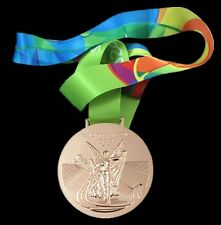 OLYMPIC 2016 RIO BRAZIL SOUVENIR COMMEMORATIVE BRONZE MEDAL - NOT PIN USA SELLER