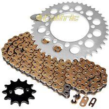 Gold O-Ring Drive Chain & Sprockets Kit Fits HONDA TRX200 TRX200D Fourtrax 90-97