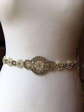 Cinturón de boda traje de novia Cinturón Fajín adornado