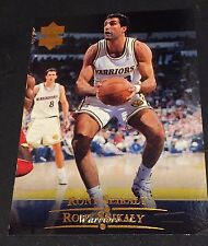 RONY SEIKALY 1995-96 Upper Deck ERROR Double Name Logo RARE Card #39 WARRIORS