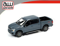 AUTOWORLD 1/64 2019 GREY FORD F-150 LARIAT PICK UP DIECAST MODEL AWSP041A