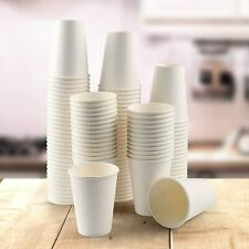 Paper Cups White - Disposable Coffee Cups For Hot Drinks With Lids Party Cups