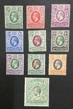 MOMEN: SOMALILAND SG #60-69 1912 MINT OG H LOT #195860-3805