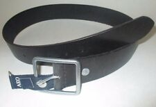 MENS AMERICAN EAGLE OUTFITTERS VINTAGE BLACK LEATHER BELT SIZE 30