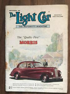 The Light Car Magazine September 1950 Morris Front Cover