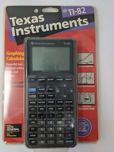 Texas Instruments TI-82 Graphing Calculator 1997 NOS New & Sealed
