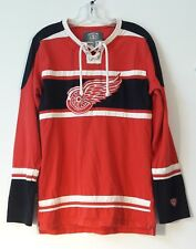 Detroit Redwings Old Time Hockey Causeway Collection Stitched Lace Jersey Mens M