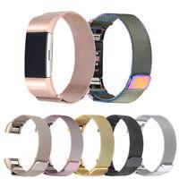Edelstahl Metall Armbanduhr Riemen Armband Verschluss Für Fitbit Charge 2 neu