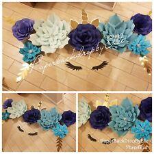 "$55 Holiday Sale ""Handmade"" Beautiful Paper flower backdrop decor! Unicorn Too"
