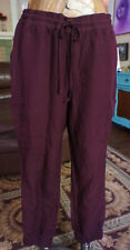 Old Navy Joggers Size Large L TALL W Casual  Linen Dark Wine color NEW