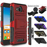 For Alcatel Tetra 6753B 5041C Case Shockproof TPU Holster Clip Stand Phone Cover
