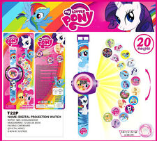 Hot My Little Pony Figures Doll 20 Projection Wrist Watch Kids Boy Girl Toy Gift