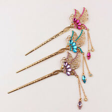 Women Retro China Classic Clasp Hairpin Alloy Handmade Hair Accessory Crafts