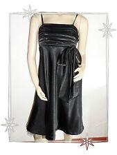Robe de Soirée Bustier Noire Satinée Fashion BPC Taille 38