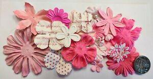 Flowers - Mixed Prima Paper - Scrapbooking NO 502
