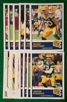 2019 Score Green Bay Packers Team Set Aaron Rodgers, Martinez 12 Cards 2 RC