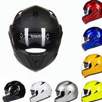 8 Colors Full Open Face Modular Flip Up Dual Visor Motorcycle Street Helmet