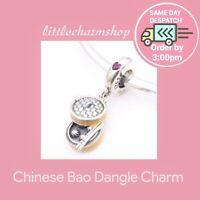 New Authentic Genuine PANDORA Silver Chinese Bao Dangle Charm - 797250CZR