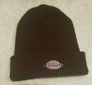 Vintage Dickies Brown Beanie Hat - Made in the USA - Same Day Shipping.