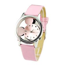 Women Watch Clock Luxury Brand Fashion Thin Pattern Cute Girls bracelets PINK
