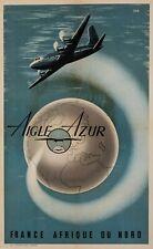 Affiche Originale - DAD - Aigle Azur - France - Afrique du Nord - Algérie - 1950