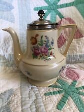 Vintage Royal Rochester Royalite Fraunfelter China Teapot Roses & Tulip Floral