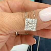 Tiffany & Co Diamond Solitaire Pendant Necklace 1.36 Tcw Platinum Certificate